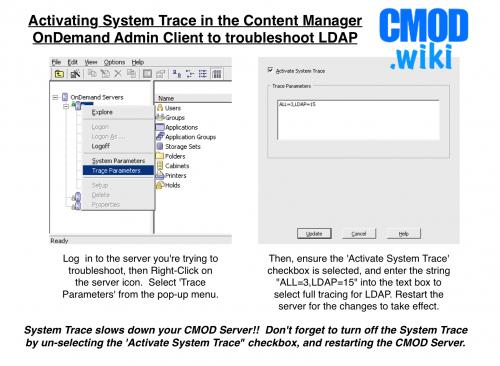 LDAP Error: Invalid credentials - CMOD wiki